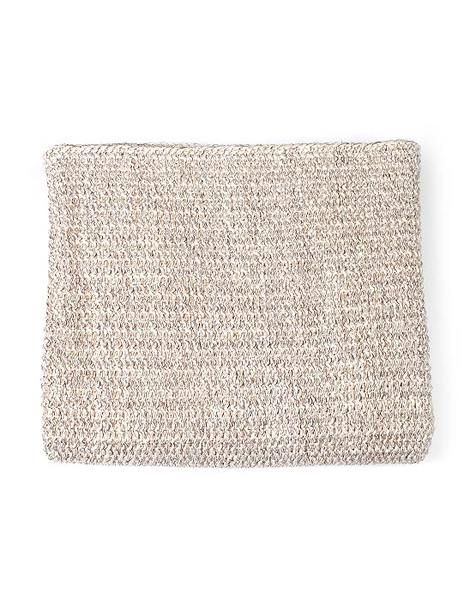Moss Stitch Metallic Throw Champagne/Natural | Krinkle Gifts