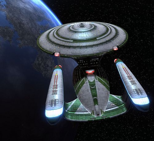 A slightly different Galaxy Class. Why couldn't  enterprise E be like this.