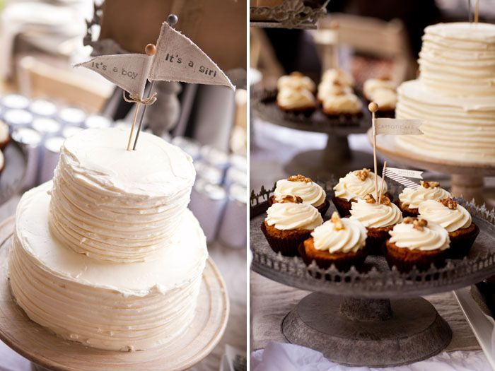 rustic vintage baby shower - twins!
