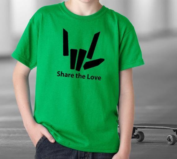 Kids Share the love t shirt Youth Stephen Sharer inspired merch Share the love