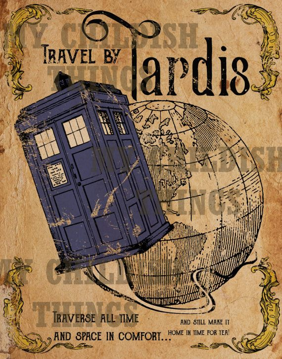 Doctor Who vintage style print!  Print is on premium, matte finish professional…