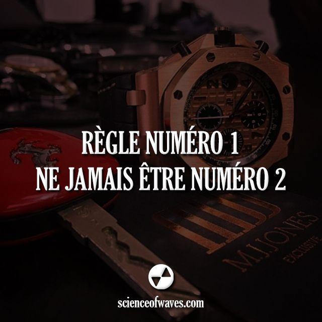 Règle numéro 1: Ne jamais être numéro 2.  #argent #luxe #citation #entrepreneur #réussite #règle #ferrari #rolex #or