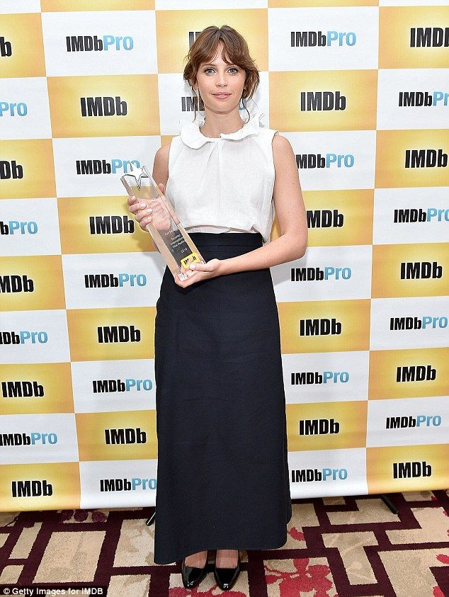 Looking good! Actress Felicity Jones surpassed herself when she attended the…
