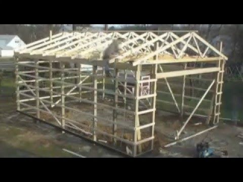 Building your own 24 39 x24 39 garage and save money steps for Build your own pole barn