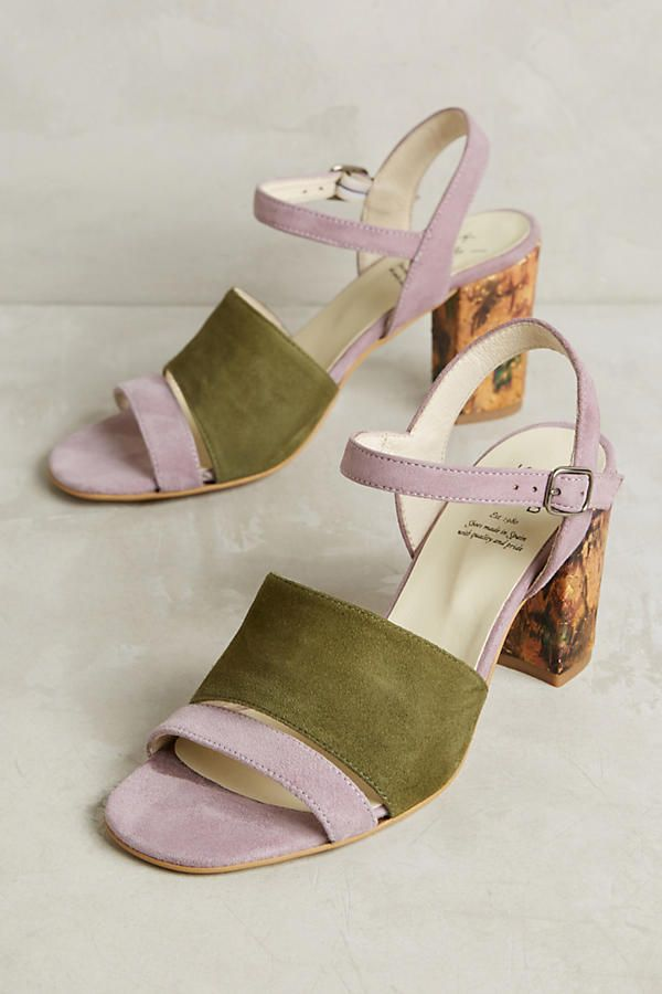Slide View: 1: KMB Colorblock Heels