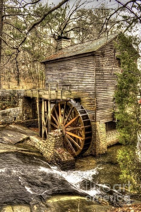 Beautiful image of this old Grist Mill at Stone Mountain Park in Georgia by Terry Harrelson