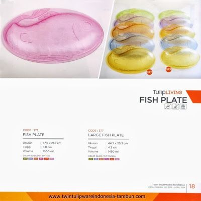 Fish Plate Twin Tulipware, Large Fish Plate