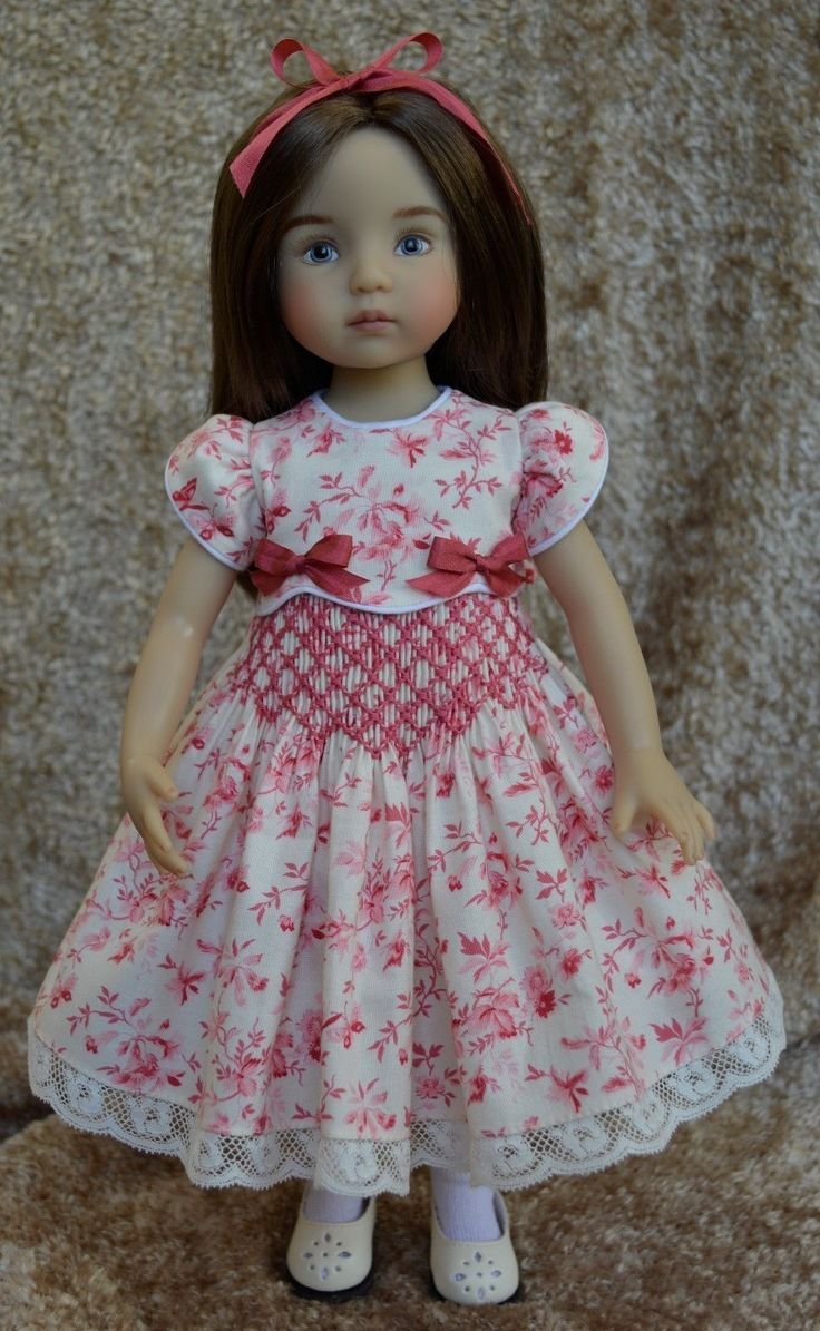 """Butterfly Garden"" Smocked Dress Ensemble for Effner 13"" Little Darlings Dolls 
