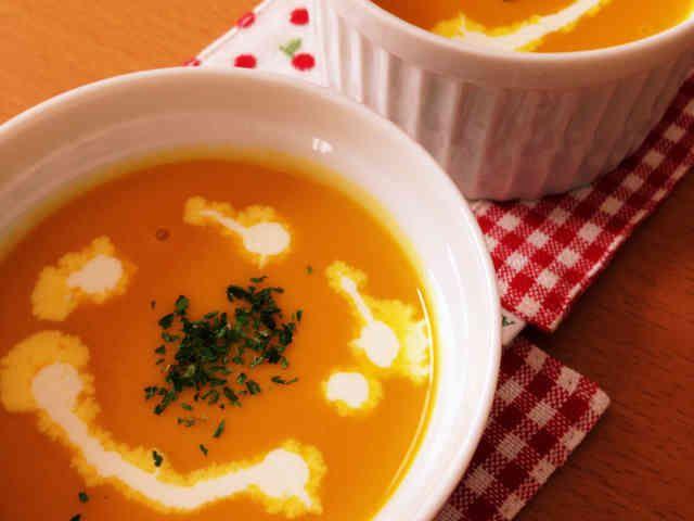 夏は冷製で!黄金比率♡濃厚かぼちゃスープの画像