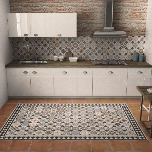 Best 25 patchwork tiles ideas on pinterest cement tiles for Shabby chic wall tiles