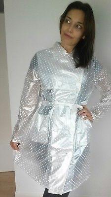 PVC Plastic Vinyl Raincoat Rainsuit Regenmantel Fun festival Rain Mac M