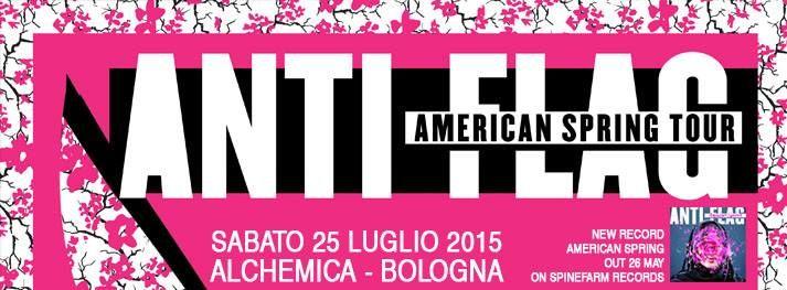 #Punk news:  25 Luglio ANTI FLAG @ Alchemica di Bologna http://www.punkadeka.it/25-luglio-anti-flag-alchemica-di-bologna/ Quest'estate torneranno in Italia gli Anti-Flag! La punk band americana si esibirà sabato 25 luglio all'Alchemica di Bologna! Gli Anti-Flag emergono dagli scantinati umidi di Pittsburgh e il loro nome si è diffuso per tutto il nord America a bordo di un furgone fatiscente. Oggi la band vanta tour...