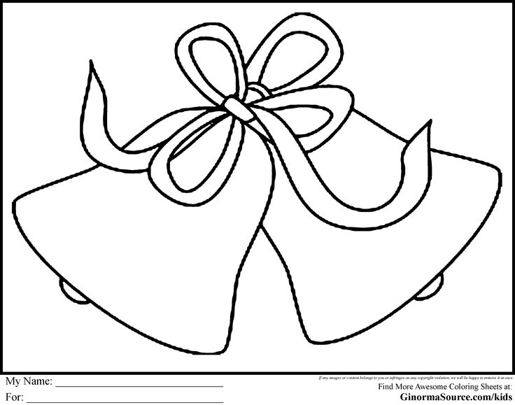 Christmas Coloring Pages For Kids Bells