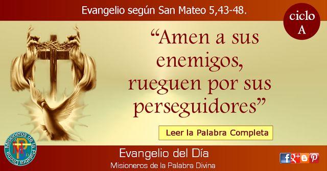MISIONEROS DE LA PALABRA DIVINA: EVANGELIO - SAN MATEO  5,43-48