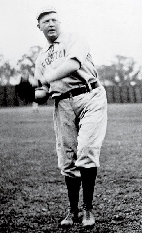 "Cy Young - Boston Red Sox... In 1956 the best pitcher was awarded the ""CY Young"" award.  He was a hero."