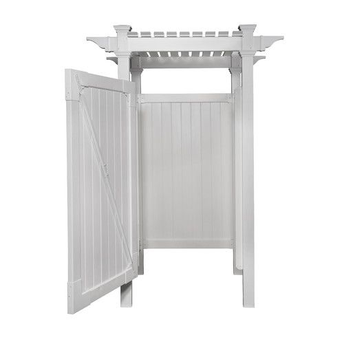 Features:  -Designed to offer maximum privacy to function as a change room in addition to a shower enclosure.  -Door includes powder coated stainless steel hinges and latch.  -Purchase concrete separa