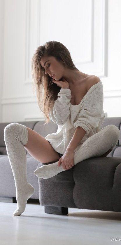 321 Best Long Socks Images On Pinterest  Beautiful Women -4518
