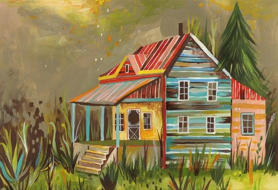 Someday Cottage  11x14 by thewheatfield on Etsy, $22.00