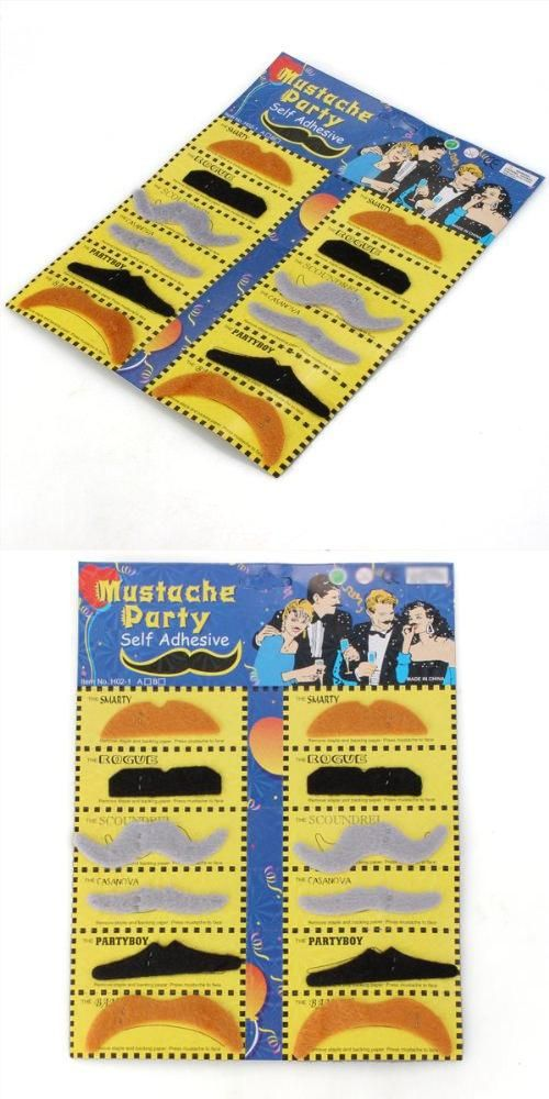 [Visit to Buy] Pack 12 Fake Mustache Fake Adhesive Dress up Costume Party #Advertisement