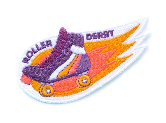 Roller Derby Iron On Patch by MokuyobiThreads on Etsy