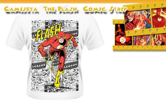 Camiseta The Flash Comic Strip DC Comics
