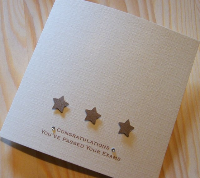 Handmade Passed Exams Stars Card - Can be personalised £2.69