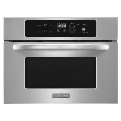 KitchenAid Architect Series II 24 in. W 1.4 cu. ft. Built-In Microwave in Stainless Steel with Sensor Cooking - KBMS1454BSS - The Home Depot