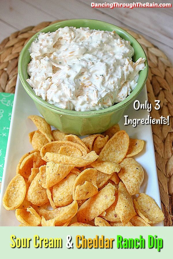 Cheddar Sour Cream Ranch Dip Dip Recipes Easy Chip Dip Recipes Appetizers Easy
