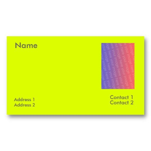 18 best solid color business cards images on pinterest business fluorescent yellow business card reheart Image collections
