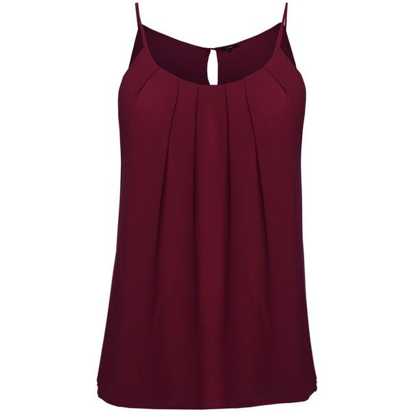 Plus4u Women's Plus Size High Neck Pleated Top ($11) ❤ liked on Polyvore featuring tops, plus size camisoles, purple camisole, high neck tank top, cami tank and plus size tops