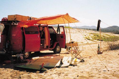 Beachside van camp