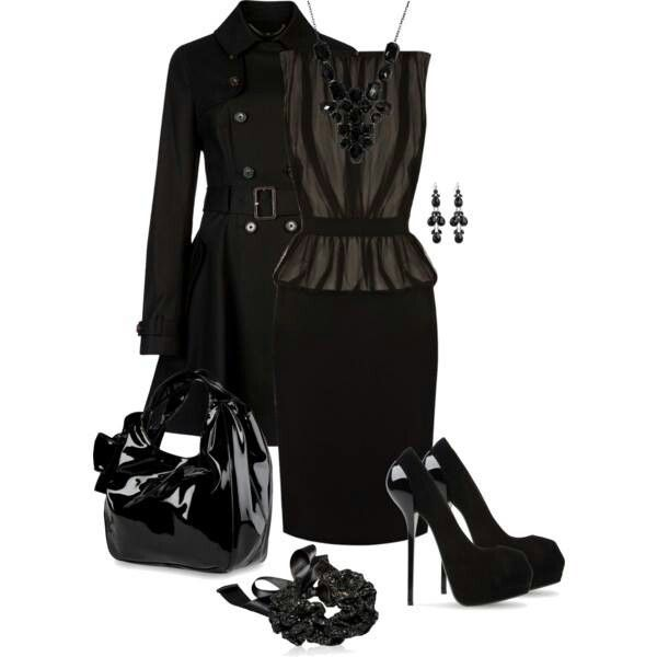 For a sexy Gothic look or looking damn good at a funeral. | My Style | Pinterest | Funeral ...