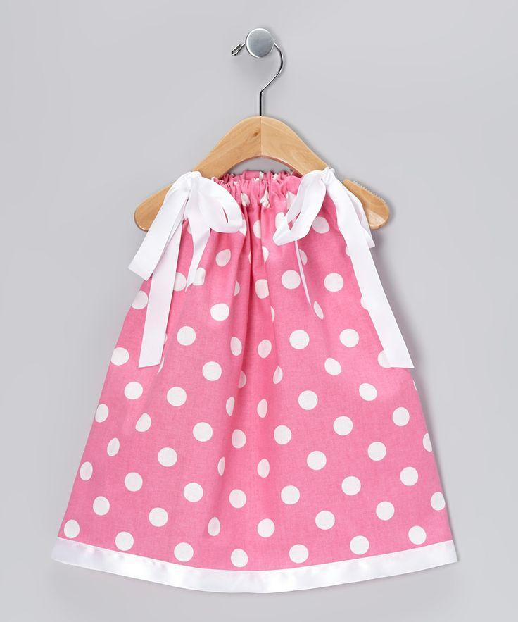 Pink & White Polka Dot Swing Dress - Infant & Toddler