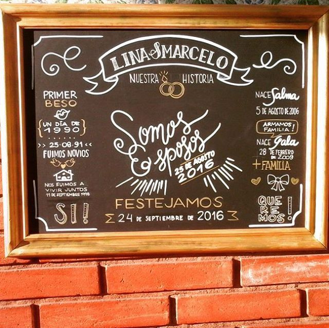 There is no better way to grab your guests' attention than having a board that POPS! Designed with neon chalk pens
