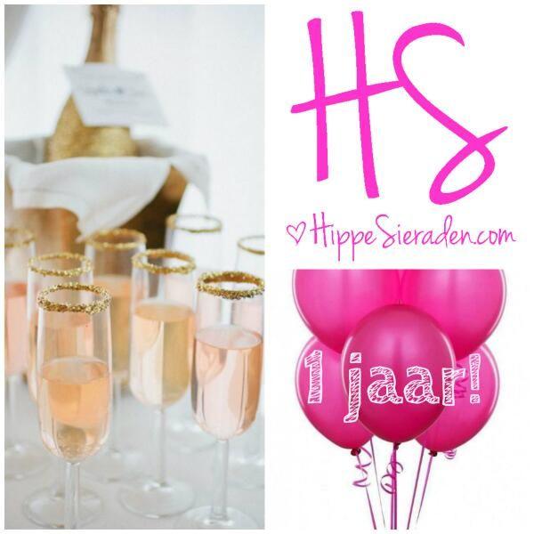 Hoera! HippeSieraden.com bestaat 1 jaar.  Reden voor een feestje! In mei gratis verzenden en een cadeautje!
