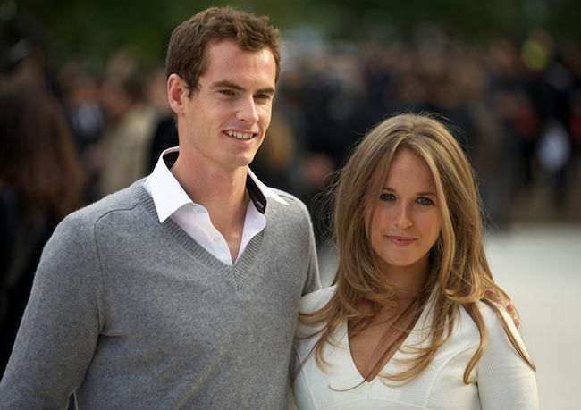 Tennis player, Andy Murray and spouse Kim Sears...