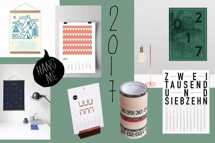 Die zweite Woche im Jahr #2017 bricht an: Haben Sie schon den Überblick über die kommenden Monate? Finden Sie sich mit diesen schönen #Kalenderideen zu jeder Zeit zurecht. #DIY #Kalender #Basteln