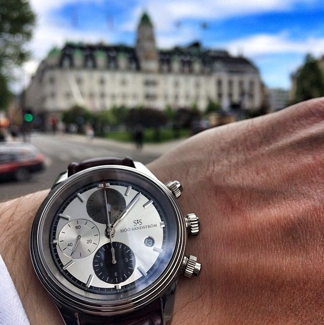 Royal Steel Chronograph in Oslo, Norway!  #sjöösandström #sjoosandstrom #watch #watches #oslo #norway