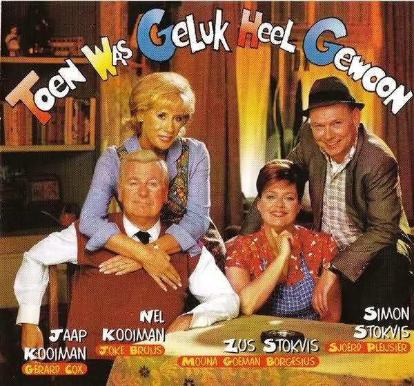 """1999 Toen was geluk heel gewoon (KRO). Toen was geluk heel gewoon was een Nederlandse televisieserie die werd uitgezonden door de KRO tussen 2 januari 1994 en 3 juni 2009, gebaseerd op de Amerikaanse sitcom """"The Honeymooners"""". De serie speelde zich af in het Rotterdam-Zuid van eind jaren vijftig. De eerste aflevering speelt in 1959 en elk volgend seizoen een jaar later waardoor uiteindelijk de laatste aflevering zich afspeelt in 1974. Hoofdrollen voor Gerard Cox, Joke Bruijs en Sjoerd…"""