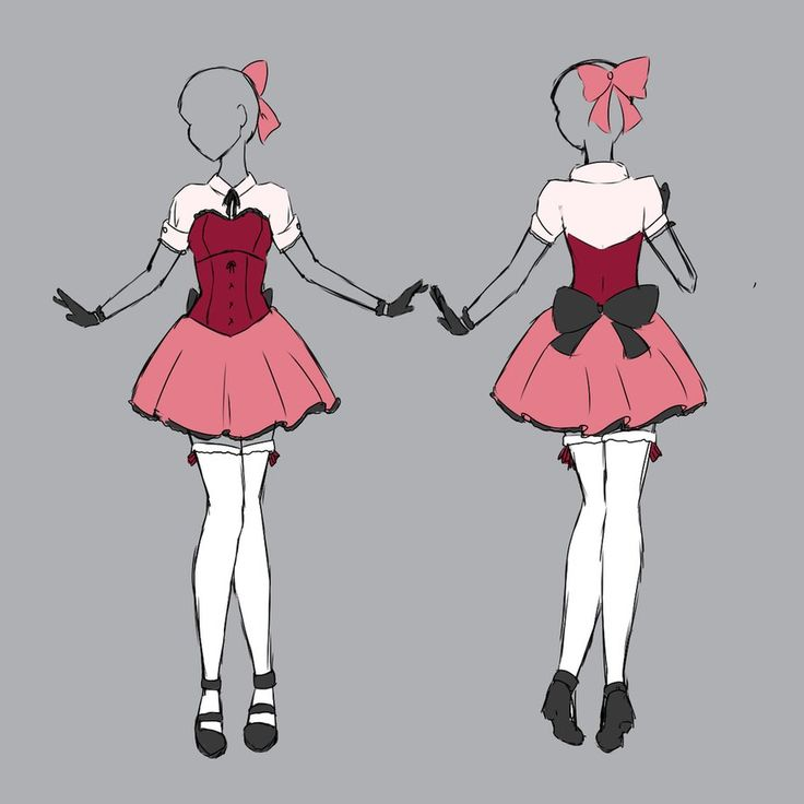 Skirt drawing designs