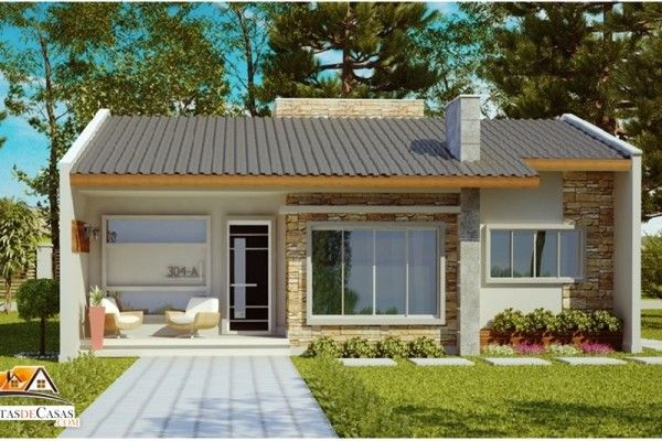 26 Inspirações modernas de fachadas de casas simples e pequenas.Para projetar uma bela fachada, mesmo nas casas pequenas e simples, deve-se levar em conta o estilo da construção, além da funcionalidade e harmonia.