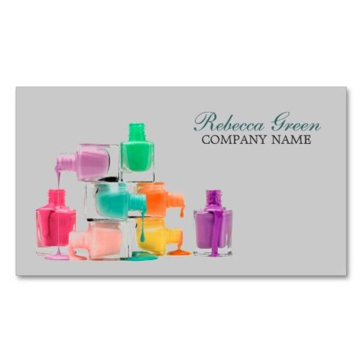 modern colorful nail polish nail artist business card. I love this design! It is available for customization or ready to buy as is. All you need is to add your business info to this template then place the order. It will ship within 24 hours. Just click the image to make your own!