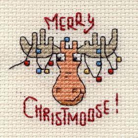 Merry Christmoose Cross Stitch Kit: Cross stitch (Mouseloft, 014-G35stl)