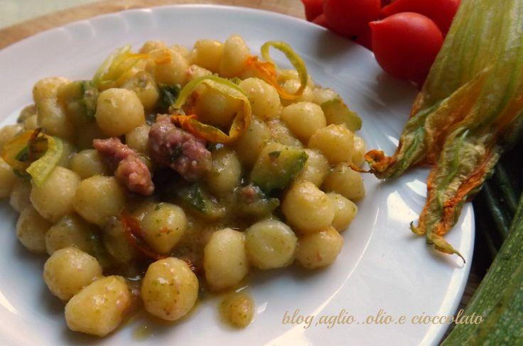 gnocchetti cremosi con zucchine