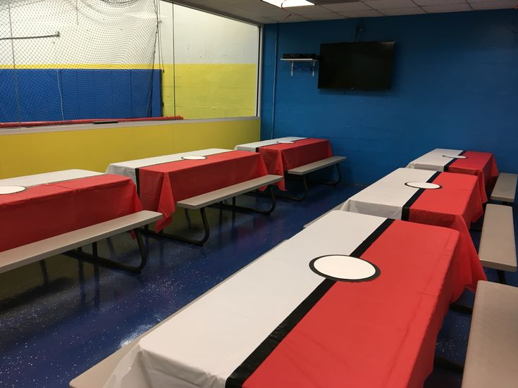 Pokemon birthday party ideas table covers