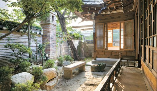 courtyard of a beautiful Korean traditional house