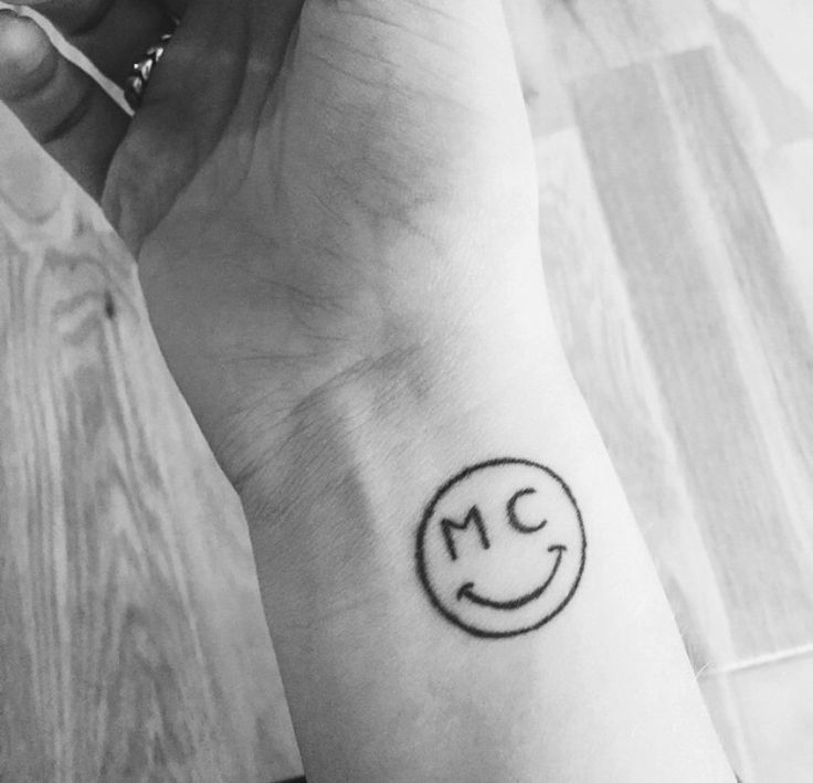 My MC smiley face - matches my initials and it's the Miley Cyrus smiley face. #mileycyrus #tattoo