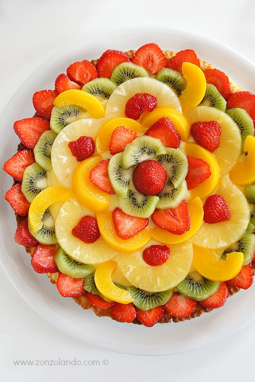 Crostata di frutta con crema pasticcera al limone - Tart fruit with lemon…