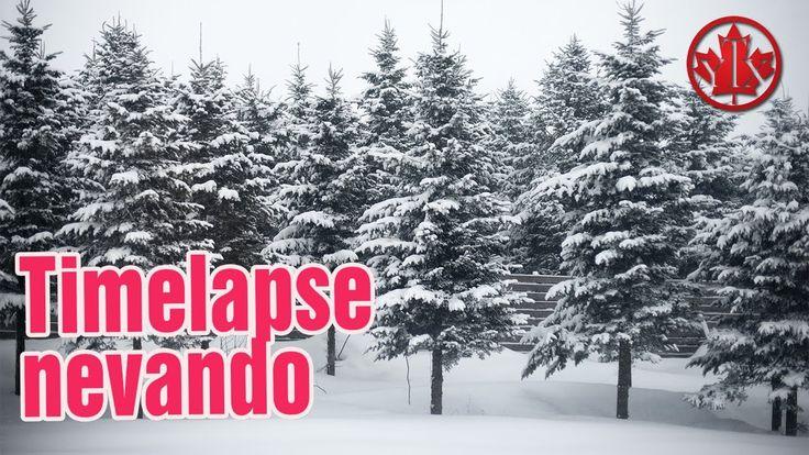 TIMELAPSE Caida de nieve Vivir en Canada, Quebec Montreal