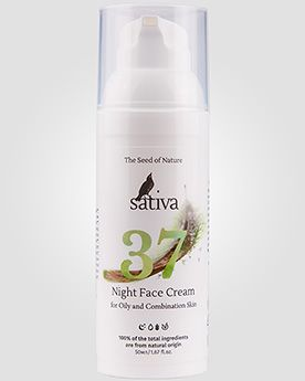 Sativa Ночной крем для лица № 37 для жирного и комбинированного типа кожи | Интернет-магазин профессиональной косметики для волос от ведущих мировых брендов shampoosik.ru 7 495 77-44-99-0